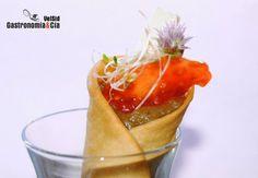 cono de berenjena y queso Queso, Catering, Salsa, Healthy Recipes, Snacks, Cooking, Ethnic Recipes, Orange Dress, Relleno