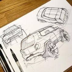 """445 Likes, 17 Comments - Freelance Industrial Design (@knackdesignstudio) on Instagram: """"It's been a loooong time since I've sketched cars. I was never great at it, so I'd like to see if I…"""""""