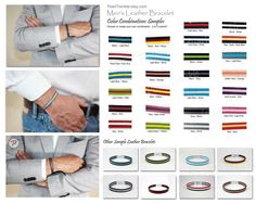 Men's Bracelet Custom Leather Bracelet for Men by PearlTwinkle