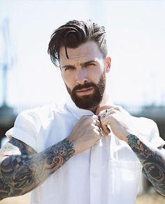 Beard Styles For Men, Hair And Beard Styles, Long Hair Styles, Cool Haircuts, Haircuts For Men, Cool Hairstyles, Mens Hairstyles With Beard, Beard Haircut, Hair Looks