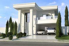 Modern home design Front Elevation Designs, House Elevation, House Front Design, Modern House Design, Home Building Design, Building A House, Classic House Exterior, Small Modern Home, Modern Mansion