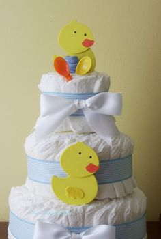 Duck Diaper Cake READY TO SHIP  Boy or by FromDiapers2Divas, $39.00