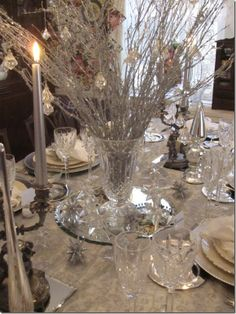 Winter Sparkle Centerpiece...great for Christmas or New Year's Eve