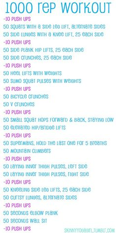 Weekend Warrior: 1,000 Reps Workout
