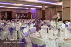 Your colour scheme can be incorporated into your wedding day in a number of ways. The couple here were going for purple and blush pink tones captured with the room lighting, sash colour and floral arrangements in the Banqueting Suite at the Brehon Hotel Wedding Dinner, Our Wedding, Wedding Venues, Private Dining Room, Civil Ceremony, Pink Tone, Industrial Wedding, Room Lights, Wedding Wishes