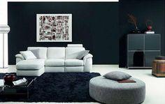 Salones en blanco y negro de Natuzzi