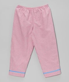 Another great find on #zulily! Hot Pink Gingham Pants - Toddler & Girls #zulilyfinds