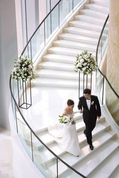 i want to walk down the stair to meet my dad before i walk down the aisle to my husband