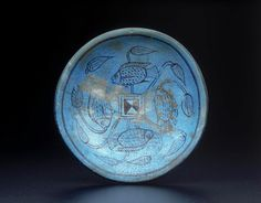 Bichrome faience bowl with fish and lotuses. New Kingdom. 18th dynasty. 1550–1295 B.C. | The Museum of Fine Arts, Boston