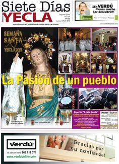 ya esta disponible la portada del periódico local Siete Dias #Yecla y a partir de mañana en su versión impresa en todas las librerías y estaciones de servicio de nuestra localidad