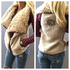 Cabin Fever Faux Fur Vest: Beige - Off the Racks Boutique