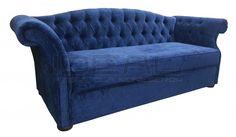 niebieska sofa chesterfield, blue chesterfield, pluszowa sofa chesterfield, velvet chesterfield, styl angielski, fotel chesterfield, armchair   niebieski, błękitny, lazurowa, indygo, turkusowa, navy, Sofa, granatowa, aksamitna  sofa_royal_ely_plus_07.jpg (900×524)