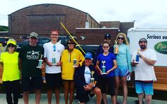 Top finishers at the #riverwalkfestival paddlesports race last Saturday. Congrats to all the finishers!! #trophyroom #fastonwater