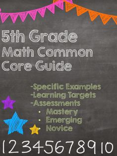 FREEBIE!  5th Grade Math Common Core Guide- Great resource for parents!  Grades K-5 available and 6-8 coming soon!