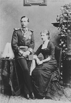 Berlin : Theodor Prümm - Prince William of Prussia and Princess Augusta Victoria of Schleswig-Holstein, 1880 [in Portraits of Royal Children Princess Alice, Royal Princess, Crown Princess Victoria, Queen Victoria, Wilhelm Ii, Kaiser Wilhelm, Windsor, Germany And Prussia, King Queen
