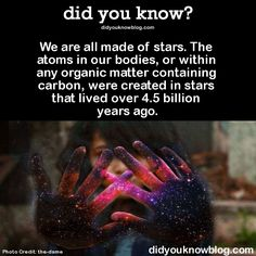we are all made of star stuff