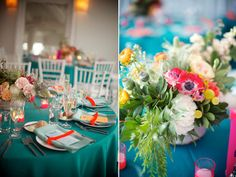 Turquoise wedding. Real wedding: Jessi + Noah / Brooklyn Bride - Modern Wedding Blog / Images from Weddings by Two