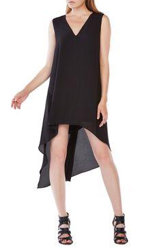 BCBGMAXAZRIA 'Shana' Georgette Cascade A-Line Dress available at #Nordstrom