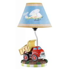 Fantasy Fields - Transportation Thematic Kids Table Lamp - Imagination Inspiring Hand Painted Details & Lead-Free Water-Based Paint for Kid's Bedroom - Red Truck Bedroom Red, Bedroom Lamps, Kids Bedroom, Bedroom Decor, Childrens Bedroom, Master Bedroom, Bedroom Ideas, Nursery Ideas, Budget Bedroom