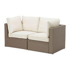 £290 Ikea ARHOLMA sofa combination, beige, brown Width: 152 cm Depth: 76 cm Height: 66 cm