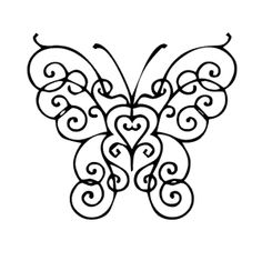 Beautiful And Cute Butterfly Coloring Page