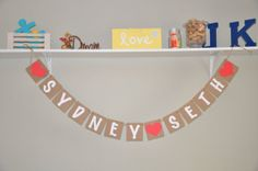 Name & Name Banner by JKreations2013 on Etsy, $17.50