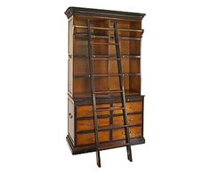 Libreria 8 scomparti e 6 cassetti Cambridge in legno - 206x123x96 cm
