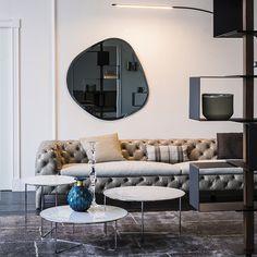 Espelhos fora do normal são uma das grandes #tendências de 2016!  #design #decoração #interiordesign #décor #decoration #homedecor #mirror #creativedecor #designideas #inspiração #espelho #trendy #inspiration #lovely