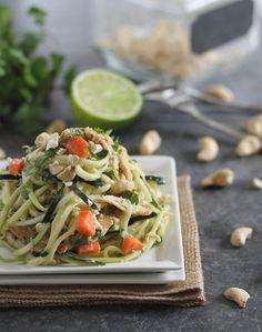 Thai Chicken Zucchini Noodles recipe #food #paleo #glutenfree