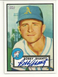 2011 Topps Lineage #RA-BS BOBBY SHANTZ Auto 1952 Reprint Athletics Yankees | Sports Mem, Cards & Fan Shop, Sports Trading Cards, Baseball Cards | eBay!