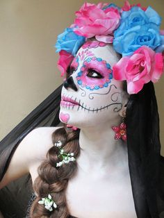 http://www.occasionsbyelena.com/index.php Beautiful Nathalia as a Mexican Catrina