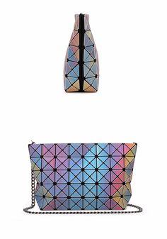6b3b408f60 New 2016 Women Fashion 3D Rainbow Laser Bao Bao Bag Geometry Package  Folding… Bao