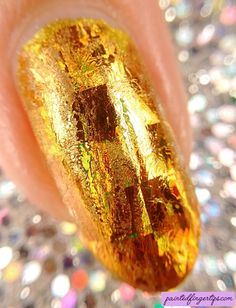 Painted Fingertips | Gold foil from Born Pretty Store - macro Foil Nails, Natural Nails, Beauty Nails, Gold Foil, My Nails, Polish, Nail Art, Community, Store