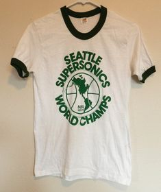 5c2a4d65e vintage Seattle Supersonics T Shirt 78-79 World Champions ringer tee 70s NBA  basketball memorabilia