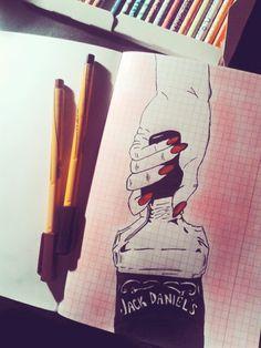 One of my arts. #Jack #Daniel's #hand #pen