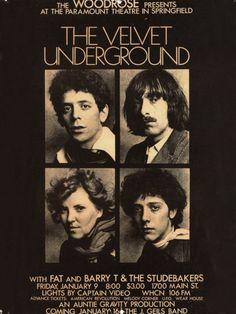 The Velvet Underground concert flyer, 1970.
