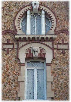 """Villa Art Nouveau """"Les Lauriers"""" - 1906 - Pont de l'Arche (France, 76).."""