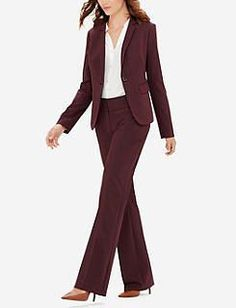 Lucille Mae: The Limited Burgundy Lexie Collection Pants & Blazer