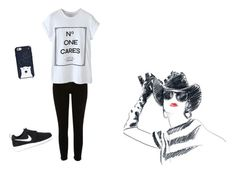 """""""Untitled #9"""" by albertenowak on Polyvore featuring WithChic, NIKE, Kate Spade and Moschino"""