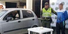 Al registrar su vehículo, debajo de la silla llevaba base de coca