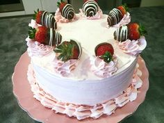 Strawberry Cake Recipe with Fresh Strawberry Filling - YouTube