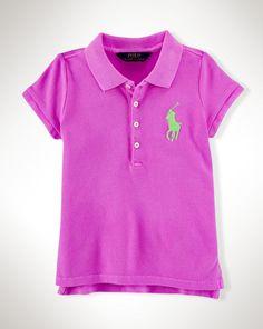 Big Pony Cotton Polo Shirt - Girls 2-6X Polo Shirts - RalphLauren.com