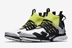 new product 259de 30ae2 Official Images  Acronym x Nike Air Presto Mid Dynamic Yellow Koristossut, Nike  Air,