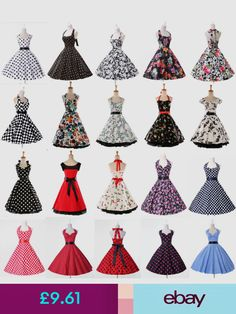 49f016baa0d7 Housewife Vintage Retro Swing Floral Party Pinup Rockabilly Tea Dress in  Clothing
