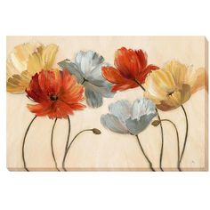 """Home Marketplace Nan """"Poppy Palette Revisited"""" Giclee Canvas Art"""