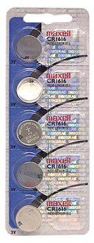 Maxell CR1616 Lithium Coin Cell (5 Pack) - http://www.watchesandstuff.com/maxell-cr1616-lithium-coin-cell-5-pack/