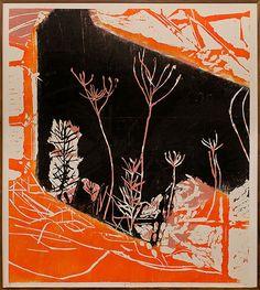 Traumas, Metáforas e Suspensão II, 2012, xilogravura em cores sobre papel Kozo,180 x 160 cm, peça única, de Fabricio Lopez