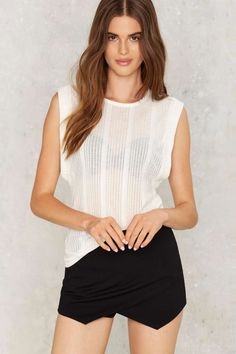 Nasty Gal Put Some Muscle Into It Ribbed Tee - Romantic Revolution | Blouses | Tops | Summer Whites