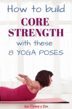 Exercise For Beginners How to build core strength with these 8 yoga poses - A strong core matters for many reasons - not only to get that 6 packs! It helps with posture, balance, back health and much more. Yoga Fitness, Hard Yoga, Different Types Of Yoga, Yoga Posen, Bikram Yoga, Kundalini Yoga, Pranayama, Vinyasa Yoga, Cool Yoga Poses
