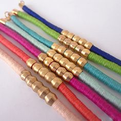 Learn how to make these colorful bracelets in minutes with supplies from the hardware store!